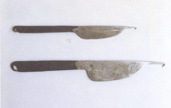 چاقوی بافت قالی از نوع قلاب